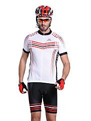 Mysenlan 男性用 五分袖 バイク 洋服セット 防水ファスナー フロントファスナー 耐久性 高通気性 サイクリング/バイク