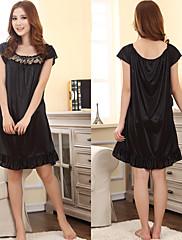 Dámské sexy černé elegantní krajky falbala pyžama