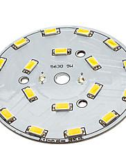 9WはウォームホワイトライトアルミニウムベースLEDエミッタ(29-31V)を18x5630SMD