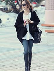 dámské klopě mys rukáv svetr bunda