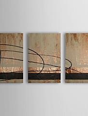 Ručně malované Olejomalba abstraktní s Reprodukce Rám Sada 3 1308-AB0583
