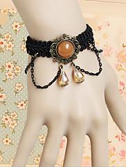 Ruční Amber Black Lace náramek Aristokrat Lolita
