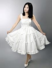 Jednodílné/Šaty Klasická a tradiční lolita Lolita Cosplay Lolita šaty Jednobarevné Bez rukávů Long Length Šaty Pro Satén