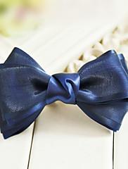 Elegantní Navy 11,5 cm saténovou mašlí Classic Lolita Barrette