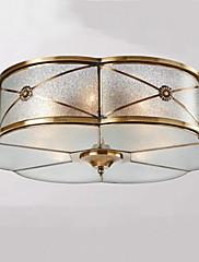 golden Unterputz mit 3-Lichter im antiken Stil