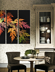 Ispruži platnu print Umjetnost Botanički šarenilu lišća skup od 3