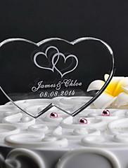 primeros de la torta personalizados doble topper de la torta del corazón (más diseños)