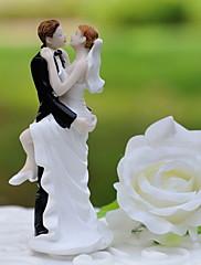 primeros de la torta 'novio de la novia besar' resina estatuilla pastel topper