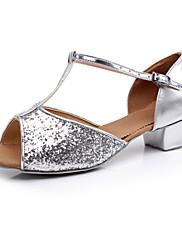 Taneční boty šumivé třpytky horní latinské obuv pro děti