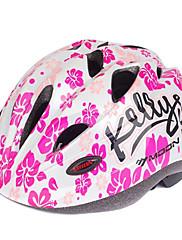 MOONサイクリングキッズ白とピンクPC + EPSローラースケート/自転車保護用ヘルメット