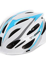 満月サイクリングPC + EPS 21ベントスーパーライトホワイト+ブルー自転車/バイクヘルメット