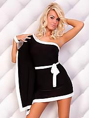 Black Big Manžetové knoflíčky Okouzlující dívka Noční klub Sexy Party Uniform (pro velikost M)