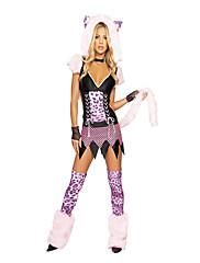Furry Mali Medo Pink Leopard Ženska Carnival Party kostim