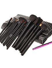 MEGAGA High Quality Black PU Case 21Pcs Cosmetic Brush Set