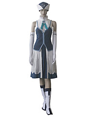 Inspirovaný Fairy Tail Juvia Anime Cosplay kostýmy Cosplay šaty Patchwork Biały / Niebieski K šatům / Klobouk / Rukavice