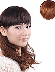 Vysoce kvalitní syntetické japonský Kanekalon vláken Krátké Rovné klipy ve světle hnědé bouchne
