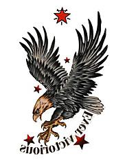 5 ks Hawk Vodotěsné Dočasné tetování (10,5 cm * 20,5 cm) HM568