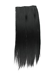 ブラックStaight合成クリップインヘアエクステンション