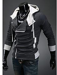 Wshgyy Pánské Korean Bodycon Fleece volný čas Dark Gray mikina