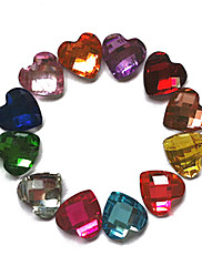 24PCS Mixs Color Glitter Ljubav Rhinestone Nail Art Dekoracije