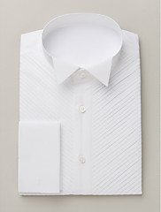 Bijela Pamuk Solid Košulje