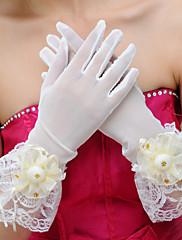 Gants de dentelle avec volants et fleurs