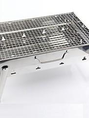 Z nerezové oceli pro domácnost Přenosný skládací Charcoal Grill, 43.5x29x22cm