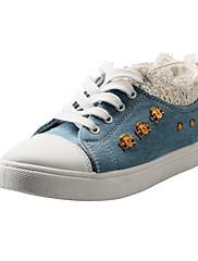 Tenisky - Plátno - Pohodlné / Kulatá špička - Dámská obuv - Modrá / Námořnická modř - Běžné - Plochá podrážka