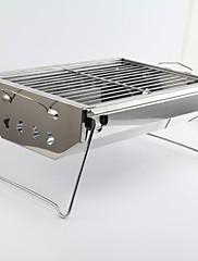 Nerezová ocel Mini domácností přenosný skládací Charcoal Grill, 33x22x16cm