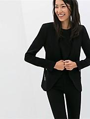 Maxlove Ženska Zip Solid Color Leisure Suit Blazer