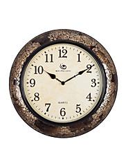 """15.6 """"H Rerto styl Crack vzor Bronze Polyrein Nástěnné hodiny"""