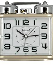 Telesonic™ヨーロッパスタイルのダブルベル常夜灯ミュートアラーム時計