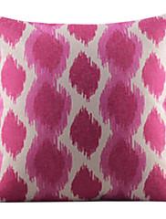 魅力的な花びらコットン/リネン装飾枕カバー