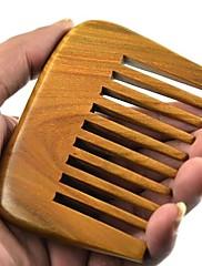 natual大櫛歯距離9x6.7cmブラジルグリーンサンダルウッドの木製櫛の健康コーム