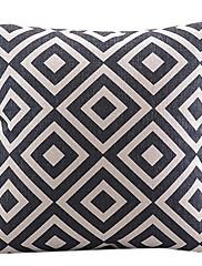 古典的な格子縞の綿/リネン装飾枕カバー