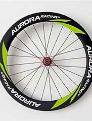 AURORA  700c Road Bike,Bicycle 60mm Depth 25mm Width Full Carbon Tubular Wheels,  R36 Hubs and Sapim CX-Ray Spokes