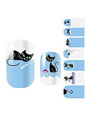 yemannvyou®14pcs modrá kočka módní nail art samolepky