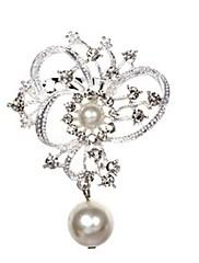 krásná slitina a imitace perlové brože