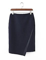 Iced ™ dámská vysoký pas bodycon tweed sukně