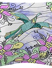 2手描きの自然なシーンのベルベットの装飾的な枕カバーのセット