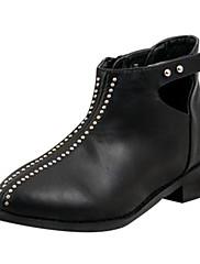 女性の靴は、丸いつま先低いヒールアンクルブーツより多くの色が利用可能shimandi