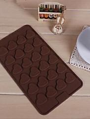24ホールハート形のケーキ型の氷のゼリーチョコレートモールド、シリコーン21×11.5×0.8センチメートル(8.3×4.6×0.4インチ)