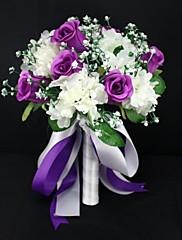 ramos de novia elegante de satén rosa bonita de la boda (más colores)