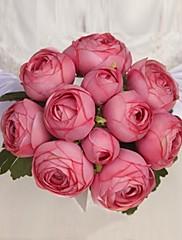 ramos de novia color sólido elegante rose (más colores)