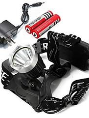 Čelovky LED Lumenů Režim Cree XM-L T6 18650 Nastavitelné zaostřování Dobíjecí Kempování a turistika Multifunkční