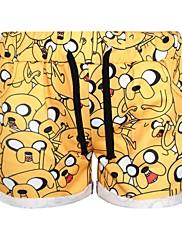 Střední  -  Natahovací  -  Kraťasy  -  Dámské kalhoty ( Polyester )