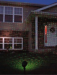červená zelená stacionární světluška vodotěsný venkovní krajina laserové světlo s dálkovým a IP68 ul adaptérem