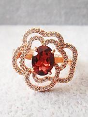 925 stříbření 18k růžové zlato ametyst prsten