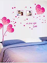 odnímatelný romantické růžové milující srdce ložnice / obývací stěna samolepky