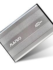 """maiwo 2,5 """"USB 2.0 SATA externí pevný disk HDD, stříbrné k2501au2s"""